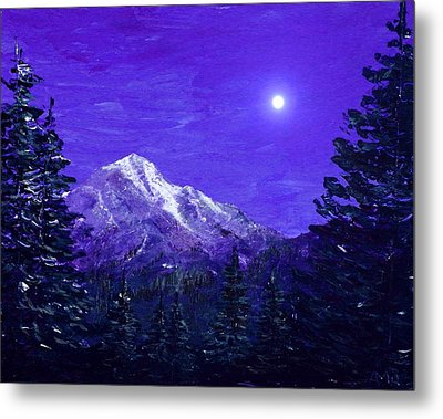Moon Mountain Metal Print by Anastasiya Malakhova