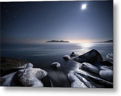 Moon Over Thunder Bay From Silver Harbour Metal Print by Jakub Sisak