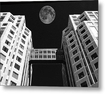 Moon Over Twin Towers Metal Print by Samuel Sheats