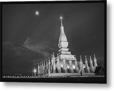Moon Over Vientiane Metal Print by David Longstreath