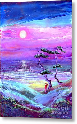 Moon Pathway,seascape Metal Print by Jane Small
