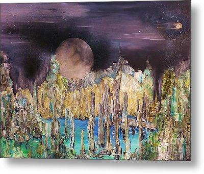 Moonhenge Metal Print by Kaye Miller-Dewing