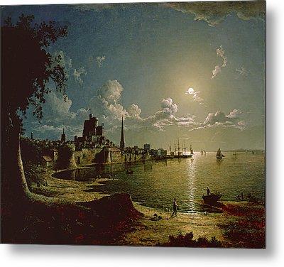 Moonlight Scene, Southampton, 1820 Metal Print by Sebastian Pether