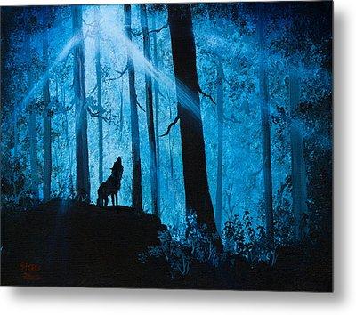 Moonlight Serenade Metal Print by C Steele