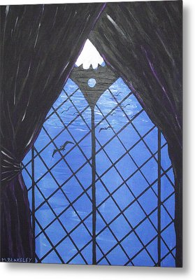 Moonlight Through The Window Metal Print by Martin Blakeley