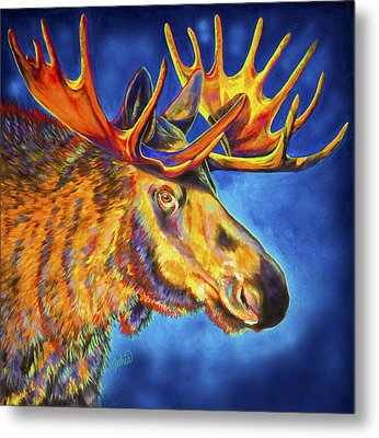 Moose Blues Metal Print by Teshia Art