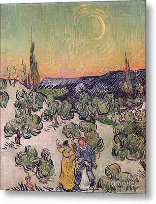 Moonlit Landscape Metal Print by Vincent Van Gogh