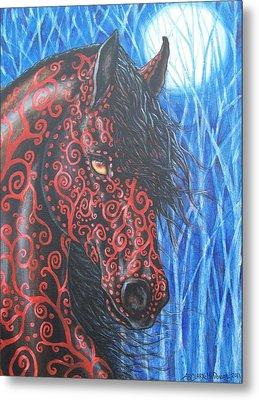 Moonsfyre Stallion Of Nyteworld Metal Print by Beth Clark-McDonal