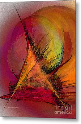Moonstruck-abstract Art Metal Print by Karin Kuhlmann