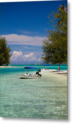 Moorea Lagoon No 14 Metal Print by David Smith