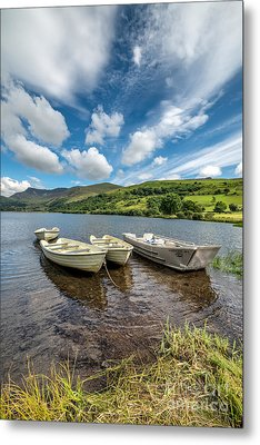 Moored Boats  Metal Print by Adrian Evans