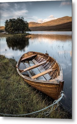 Moored On Loch Awe Metal Print by Dave Bowman
