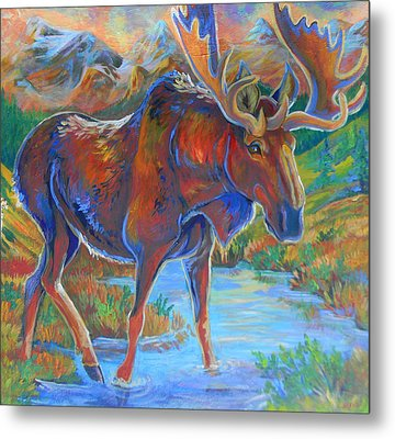 Moose Metal Print by Jenn Cunningham