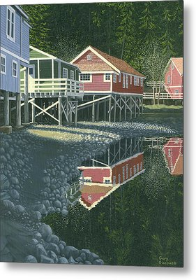 Morning At Telegraph Cove Metal Print by Gary Giacomelli