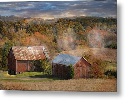 Morning Burn Metal Print by Fran J Scott