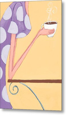 Morning Coffee Metal Print by Christy Beckwith