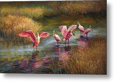 Morning Dance Metal Print by Laurie Hein
