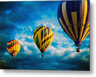 Morning Flight Hot Air Balloons Metal Print by Bob Orsillo