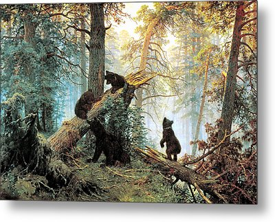 Morning In A Pine Forest Metal Print by Ivan Shishkin