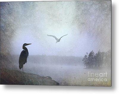 Morning Mist Along The Masagee Metal Print by The Stone Age