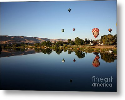 Morning On The Yakima River Metal Print by Carol Groenen