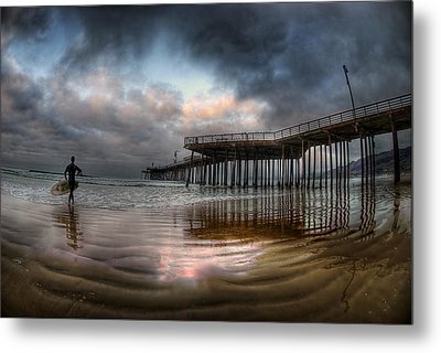 Morning Session In Pismo Metal Print by Sean Foster
