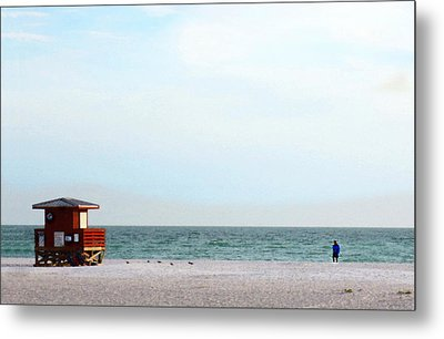 Morning Walk Beach Art By Sharon Cummings Metal Print by William Patrick