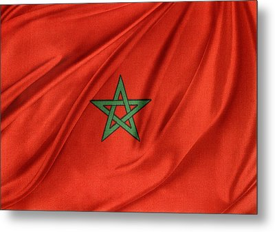 Moroccan Flag Metal Print by Les Cunliffe