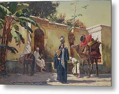 Moroccan Scene Metal Print by Rudolphe Ernst