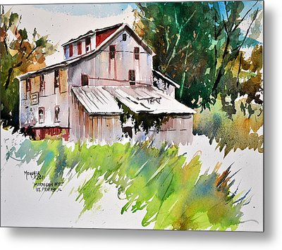 Morrison Mill Burnt Prairie Illinois Metal Print by Spencer Meagher