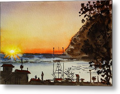 Morro Bay - California Sketchbook Project Metal Print by Irina Sztukowski