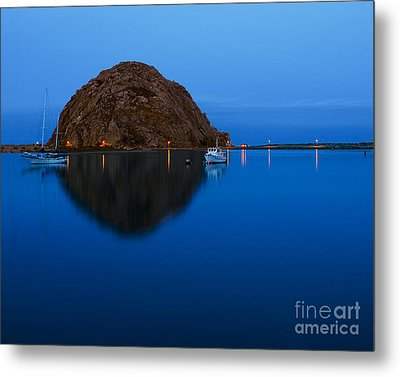 Morro Bay Calm Morning Metal Print by Terry Garvin