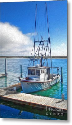 Morro Bay Fishing Boat Metal Print by Gregory Dyer