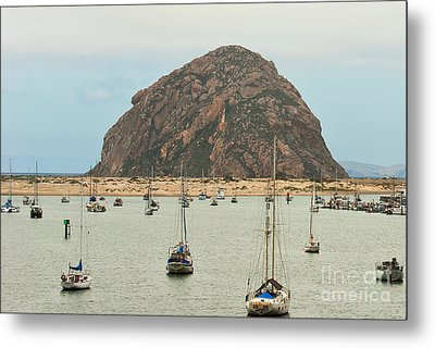 Morro Bay Rock At Dawn Metal Print by Artist and Photographer Laura Wrede