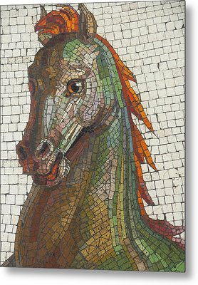 Mosaic Horse Metal Print by Marcia Socolik