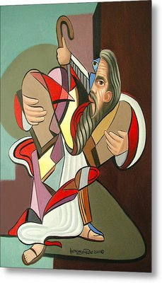 Moses Metal Print by Anthony Falbo