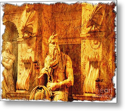 Moses Metal Print by Stefano Senise