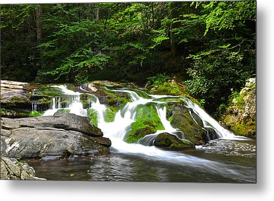 Mossy Mountain Falls Metal Print by Frozen in Time Fine Art Photography