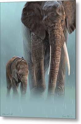 Mother And Child Metal Print by Aaron Blaise