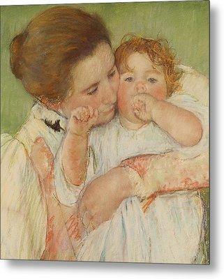 Mother And Child Metal Print by Mary Stevenson Cassatt