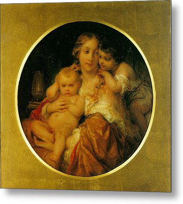 Mother And Child Metal Print by Paul  Delaroche