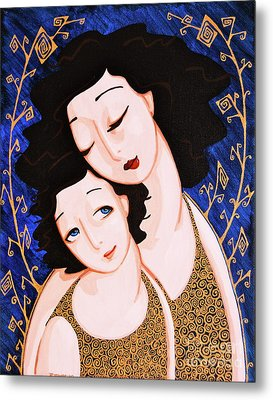 Mother And Daughter Metal Print by Rebecca Mott