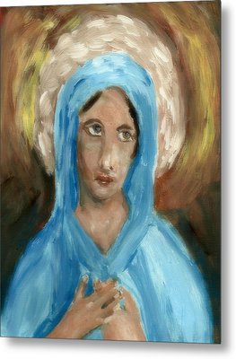 Mother Mary Metal Print by Peg Holmes