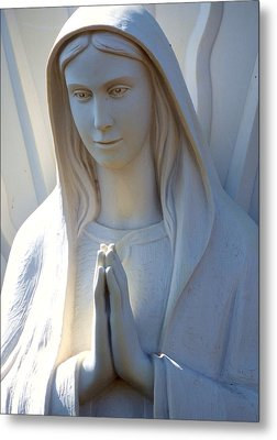 Mother Mary Statue Metal Print by David G Paul