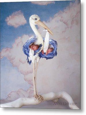 Mother Stork Metal Print by Anne Geddes
