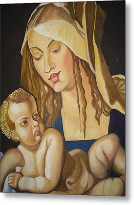 Mother With Her Child Metal Print by Prasenjit Dhar