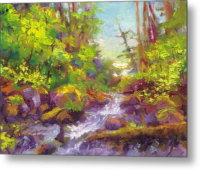 Mother's Day Oasis - Woodland River Metal Print by Talya Johnson
