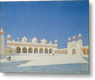 Moti Masjid, Agra Metal Print by Vasili Vasilievich Vereshchagin