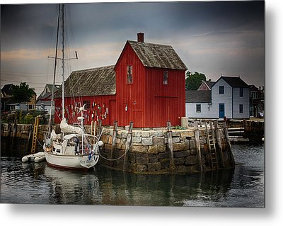 Motif 1 - Rockport Harbor Metal Print by Stephen Stookey