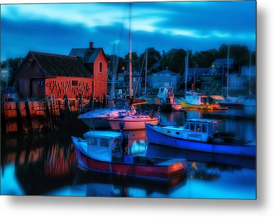 Motif No 1 Rockport Massachusetts Metal Print by Thomas Schoeller